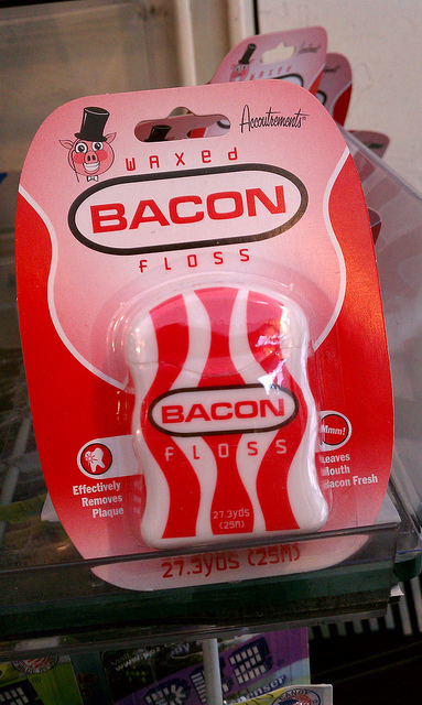 "OK, so maaaaaybe this would qualify as ""high tech"" dental floss. Thanks to  jenny8lee on Flickr for the pic."